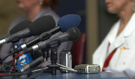 Business conference microphones Stock Images