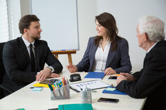Business conference in modern office Royalty Free Stock Images