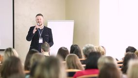 Business Conference and Presentation stock video footage