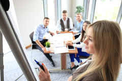 Business conference presentation Stock Image