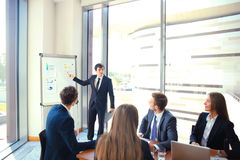 Business conference presentation with team training flipchart office. Business conference presentation with team training flipchart office royalty free stock photo