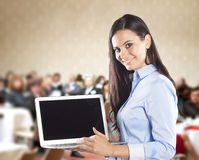 Business conference. Public indoor business conference for modern managers Royalty Free Stock Photos