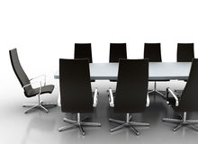 Business conference room. Isolated on white Stock Images