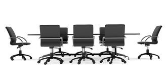 Business conference table with chairs. Isolated Stock Images