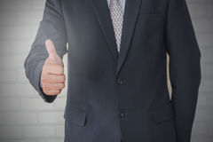 Business confidence shows like standing. On a white background stock image