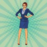 business confident woman Λαϊκή τέχνη διάνυσμα Στοκ εικόνες με δικαίωμα ελεύθερης χρήσης