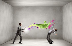 Business conflict Royalty Free Stock Image