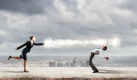 Business conflict Royalty Free Stock Images