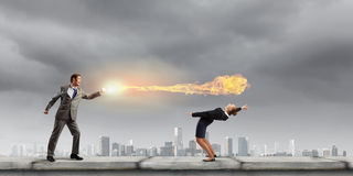 Business conflict Stock Images