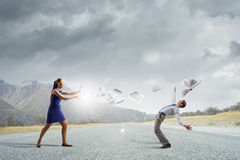 Business conflict Stock Image
