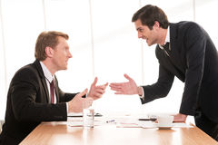 Business conflict. Royalty Free Stock Photography