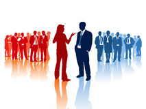 Business confrontation Royalty Free Stock Images