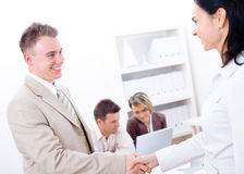 Business congratulation Stock Image