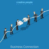 Business connection businessmen flat 3d vector isometric Royalty Free Stock Photography