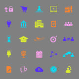 Business connection color icons on gray background Royalty Free Stock Image