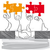 Business connection. Corporate Team -  illustration Royalty Free Stock Photo
