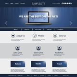 Business, Connection, Network - Website Template Royalty Free Stock Photos