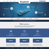 Business, Connection, Network - Website Template Stock Image