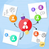Business Connection Person Icon Team Creative Stock Photos