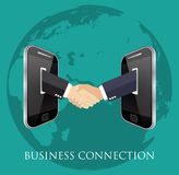 Business connection and relations. Royalty Free Stock Photos