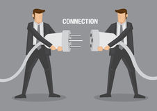 Business Connection Vector Illustration Stock Images