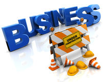 Business construction Stock Photo