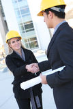 Business Construction Man and Woman Stock Photography