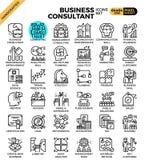 Business consultant icons. Business consultant icon illustration set in modern line icon style for ui, ux, website, web, app graphic design stock illustration