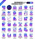 Business consultant icons. Business consultant icon illustration set in modern line icon style for ui, ux, website, web, app graphic design vector illustration