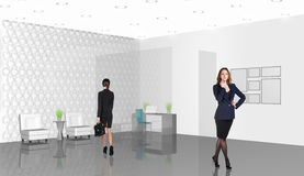 Business consultants. Beautiful businesswoman consultants standing at the office Royalty Free Stock Image