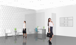 Business consultants. Beautiful businesswoman consultants standing at the office Royalty Free Stock Images