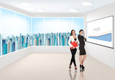 Business consultants. Beautiful businesswomen consultants standing at the office Stock Image