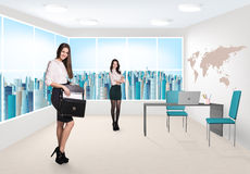 Business consultants. Beautiful businesswomen consultants standing at the office Stock Photo