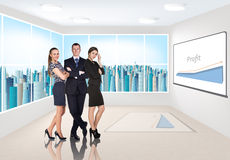 Business consultants. Group of business consultants standing at office Stock Photography