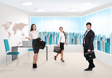 Business consultants. Group of business consultants standing at office Royalty Free Stock Images