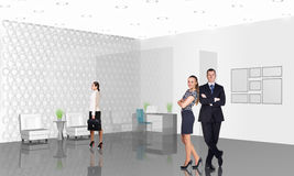 Business consultants. Group of business consultants standing at office Royalty Free Stock Photography