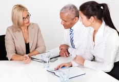 Business consultation royalty free stock photo