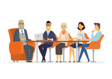 Business Meeting - modern vector cartoon characters illustration Royalty Free Stock Photography