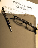 Business consulting agreement Stock Photography