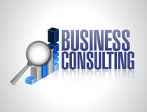 Business consulting business graph Royalty Free Stock Photo