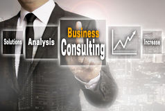 Business consulting businessman with city background concept Royalty Free Stock Photography