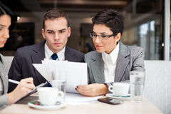 Business consulting. Businesswoman consulting with a her partner Stock Photography