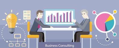 Business Consulting Design Flat Royalty Free Stock Photos