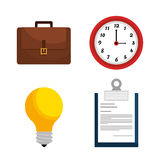 Business consulting design. Business consulting with icons design, vector graphic Stock Photos