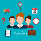 Business consulting design. Business consulting with icons design, vector graphic Stock Image