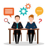 Business consulting design. Business consulting with icons design, vector graphic Royalty Free Stock Photography
