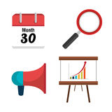Business consulting design. Business consulting with icons design, vector graphic Royalty Free Stock Photos