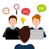Business consulting design. Business consulting with icons design, vector graphic Royalty Free Stock Photo