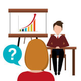 Business consulting design. Business consulting with icons design, vector graphic Stock Images
