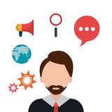 Business consulting design. Business consulting with icons design, vector graphic Royalty Free Stock Image